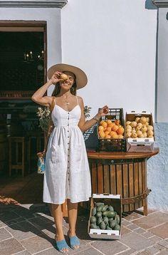 Vacation outfits, summer vacation outfits, vacation style, europe outfits s Mexico Vacation Outfits, Cute Vacation Outfits, Vacation Style, Cute Summer Outfits, Travel Style, Summer Dresses, Summer Holiday Outfits, Europe Outfits Summer, Vacation Fashion