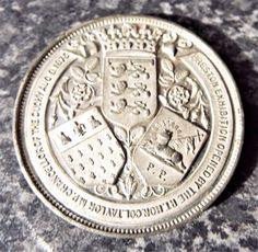 Antique Victorian 1875 Preston Exhibition Commemorative Medallion / Medal