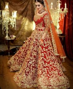 All Ethnic Customization with Hand Embroidery & beautiful Zardosi Art by Expert & Experienced Artist That reflect in Blouse , Lehenga & Sarees Designer creativity that will sunshine You & your Party Worldwide Delivery. Pakistani Wedding Outfits, Indian Bridal Outfits, Indian Bridal Lehenga, Pakistani Wedding Dresses, Wedding Lehnga, Bridal Mehndi Dresses, Bridal Dress Design, Bridal Gowns, Designer Bridal Lehenga