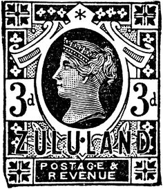 Zululand 3 d Stamp, 1888   ClipArt ETC British Colonial, Chapter 3, Digital Stamps, Postage Stamps, 3 D, Stencils, Clip Art, Printables, My Love