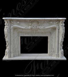 Marble Mantels | Fireplace Mantles | Marble Fireplaces | Hearths | Mantels | Custom Designed Grand Marble Fireplace  Grand Marble Fireplace  MFP-1306