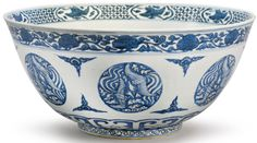 PROPERTY FROM THE 3H FAMILY COLLECTION A LARGE BLUE AND WHITE 'PHOENIX MEDALLION' BOWL JIAJING MARK AND PERIOD, Sotheby's