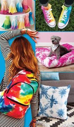 Picture of Tie Dye Isn't Just for T-shirts Diy Tie Dye Towels, Tulip Tie Dye, Tie Dye Tutorial, Tie Dye Party, Tie Dye Kit, Shibori Tie Dye, How To Tie Dye, Tie Dye Designs, Cool Ties