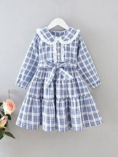 Girls Dresses Sewing, Stylish Dresses For Girls, Frocks For Girls, Stylish Dress Designs, Toddler Girl Dresses, Little Girl Dresses, Toddler Girls, Baby Dress Design, Baby Girl Dress Patterns