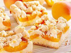Kuchen-Rezept: Streuselkuchen mit Aprikosen oder Mirabellen