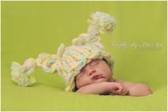 Crochet Baby Girl Pony tails hat