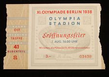 1936 Olympic Games Opening Ceremony Ticket Stub Berlin Germany