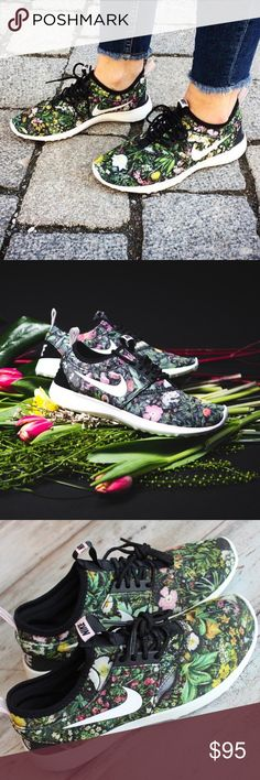 Nike Juvenate Floral SE Casual Shoes RARE SPECIAL EDITION; RARE; PRICE IS FIRM. Boasting a fully collapsible upper and plenty of feminine style, the Women's Nike Juvenate SE Casual Shoes are the perfect on-the-go sneakers for the season. Seamless and ultra-comfortable, Juvenate features a no-tongue design for sockless wear. Honeycomb-shaped foam pads adorn the breezy mesh upper. The foam midsole adds a plush feel underfoot, while the rubber sole with waffle traction pattern keeps you…
