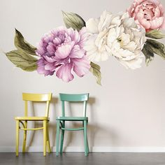 Your walls will blossom into spring with these amazing watercolor peony wall stickers. With each peony, a gorgeous work of art on its own, it will look like a garden on your wall, whatever the season. Wallpaper is making a comeback in a big way this year, but with a decidedly modern spin. Big and bold statement making designs are everywhere these days. With these large floral wall decals, your friends will think you hired a designer. But here is the best part…they are removable. So, renters…