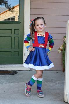 SUPER cute Rainbow brite costume.