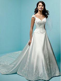 f33e20a1d8e16 2012 High End Princess Siren Sweetheart Applique Satin Royal Train Wedding  Dress Features Cap Style (