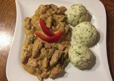 Sertéstokány kapros túrógombóccal Grains, Paleo, Rice, Eggs, Meat, Chicken, Breakfast, Food, Main Courses