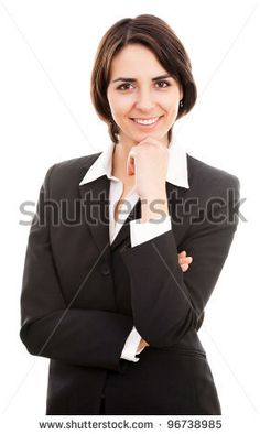 stock photo : Portrait of a young attractive business woman