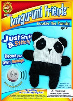 Lion Brand Yarn AFSAM6 Amigurumi Friends Kit Pookie The Panda -- You can find more details by visiting the image link.Note:It is affiliate link to Amazon. #KnittingCrochet