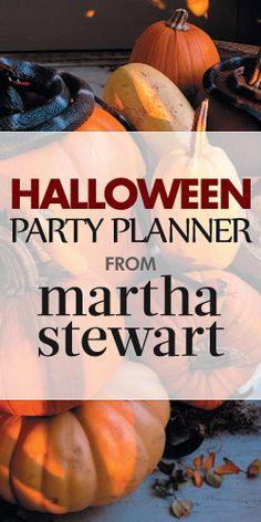 Get a #FREE #Halloween #Party Planner From #MarthaStewart!