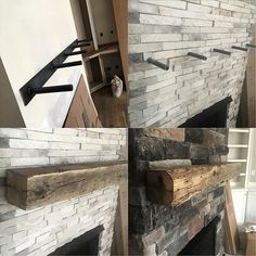 A Client Wanted To Float These Huge Solid Oak Beams As Mantles Thanks My Steel Brackets It Was Breeze On Side Note I Could Hang From Just Two Of
