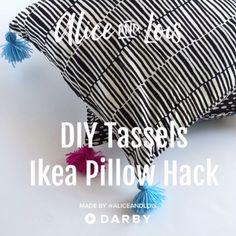 Ikea Pillow Hack with DIY Tassels