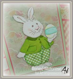Art Impressions ANTHONIE Easter bunny card.