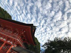 Sky of Fall - At Kamomioya Shrine.