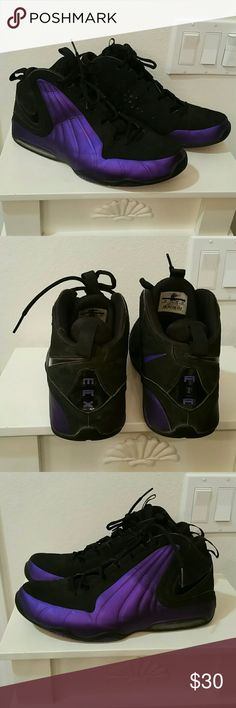Nike Air Max Rare Purple Black lace up hightops style #407703-004. EUC, only worn a few times. No box available. Black and purple. Nike Shoes Sneakers