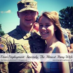 Dear Deployment: Sincerely, The Almost Army Wife Military Girlfriend, Military Love, Army Love, Military Marriage, Military Deployment, Military Families, Army Letters, Significant Other, Survival Essentials