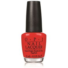 OPI Nail Lacquer ($19) ❤ liked on Polyvore featuring beauty products, nail care, nail polish, nails, beauty, makeup, red, opi, opi nail lacquer and opi nail varnish