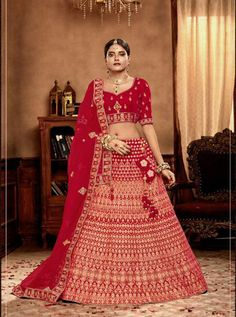 Lehengas- Buy designer Lehenga Choli and latest party wear lehengas with variant designs. Get Stylish lehenga & Cholis at discount price range from Eanythingindian. Bridal Lehenga Online, Lehenga Choli Online, Bridal Lehenga Choli, Wedding Lehnga, Party Sarees, Party Wear Lehenga, Red Lehenga, Choli Designs, Lehenga Collection