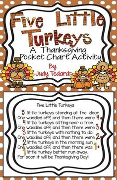 A Fun Pocket Chart Activity To Use With Your Students At Thanksgiving. I Have Included All Words And Pictures You'll Need. Simply Print And Cut And Your Pocket Chart Activity Is Ready To Use. Fall Preschool, Preschool Songs, Preschool Lessons, Preschool Learning, Kids Songs, Thanksgiving Activities For Preschool, November Preschool Themes, Kindergarten Thanksgiving, Kindergarten Music