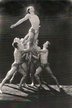 Male dancers, early 1930s