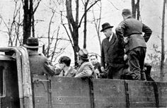 Deportation of the Jews of Regensburg to the Dachau concentration camp during the Kristallnacht pogrom, 10 November 1938