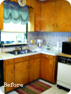 Kitchen Remodel on a Budget: Modern Cottage A good post to refer to when we go to redo our kitchen cabinets....