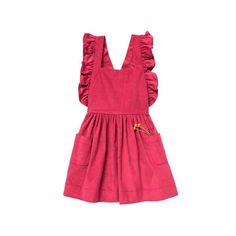 INES PINAFORE - CRANBERRY - FRONT