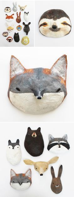 abigail brown - paper mache masks life would be awesome the day all my colleagues wear such masks at work