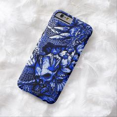 Blue Chinese Dragon iPhone 6 Case by Wraithe Designs.