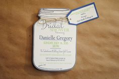 Mason Jar Bridal Shower Invitations with Registry by blueenvelope, $2.50  Absolutely Adorable!