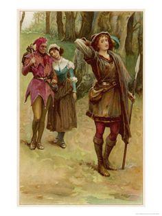 rosalind as ganymede Tokoh utama sang adipati, penguasa sah dari kerajaan, sekarang bersembunyi rosalind, putri sang adipati, menyamar dengan nama ganymede frederick, adik sang adipati.