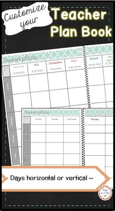 Editable Weekly Lesson Plan Templates These lesson plan templates are formatted like a book. They are designed to be either bound or placed in a binder. I have provided 2 different organizational options to choose from. In the first version, the days are Teacher Plan Books, Teaching 5th Grade, Teaching Career, Kindergarten Lesson Plans, Teaching Kindergarten, Weekly Lesson Plan Template, Ted, Classroom Crafts, Classroom Setup