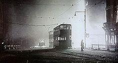 Burned Out Trams Sheffield 1940.Broadband Installations Sheffield