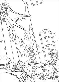 Batman Fargelegging for barn. Tegninger for utskrift og fargelegging nº 58