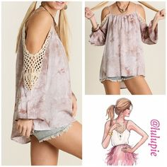 "Stone Tie Die Cold Shoulder Tunic Tie die Cold shoulder tunic in a beautiful stone color. Beautiful to pair with jeans or leggings. Made of cotton/ poly blend.  Measurements  Small ~ fits a medium  Bust 40"" / front length 27""/ back length 29""  Medium ~ fits a large  Bust 42"" / front length 28""/ back length 30""  Large ~ Fits XL Bust 44"" / front length 29""/ back length 31""  PRICE FIRM - NO TRADES Bchic Tops Tunics"
