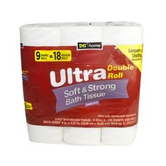 $1.00 Off Dollar General Home Ultra Soft & Strong Bath Tissue 9pk With Printable Coupon!