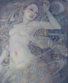Miho Hirano - 人魚 F3 Oil on canvas
