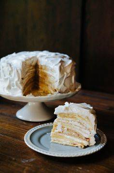 Hummingbird High - A Desserts and Baking Food Blog in Portland, Oregon: Coconut Cream Crepe Cake