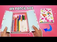 How To Make Pencil Box Case For Back To School DIY Pencil Case - YouTube