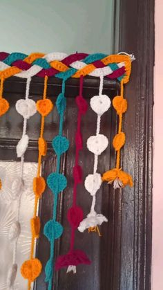 Football Baby Blankets, Half Curtains, Miami Football, Rose Design, Baby Blanket Crochet, Knitting Stitches, Wind Chimes, Crochet Necklace, Projects To Try