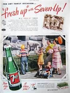 "This Vintage ad was for 7up during their ""Fresh up"" with Seven Up! campaign. This shows the vintage bottle which is cool."