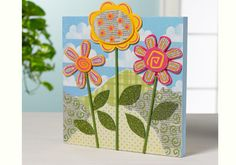Bring in Spring with this cute floral panel.