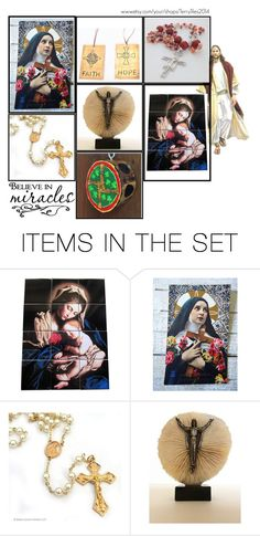 """""""Catholic gifts on Etsy - Volume 13"""" by terrytiles2014 ❤ liked on Polyvore featuring art, etsy, gifts, catholic and religious"""