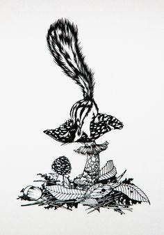 hand cut paper artwork 【study desk】 by Sayaka Imai http://instagram.com/ii_mmmm…