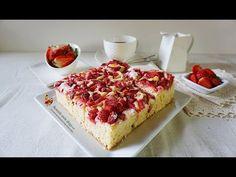 Prăjitură simplă cu rubarbă și căpșuni | Retetele mele dragi French Toast, Cheesecake, Bread, Breakfast, Desserts, Food, Youtube, Morning Coffee, Tailgate Desserts
